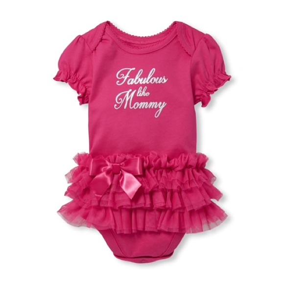 💕 Fabulous Like Mommy Tutu Graphic Bodysuit